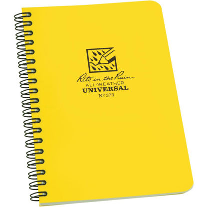 Picture of Rite in the Rain All-Weather 4-7/8 In. W. x 7 In. H. 32-Sheet Side-Spiral Bound Notebook, Yellow