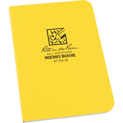 Picture of Rite in the Rain 3-1/2 In. W. x 5 In. H. Yellow 56-Sheet Soft Cover Side Bound All-Weather Memo Pad