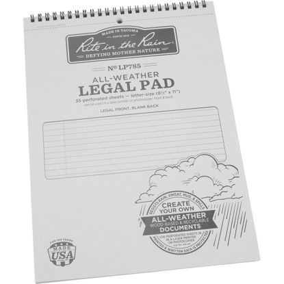 Picture of Rite in the Rain 8-1/2 In. W x 11 In. H 35-Sheet Gray Top Spiral Bound All-Weather Legal Pad