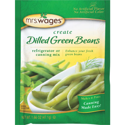 Picture of Mrs. Wages 1.7 Oz. Dilled Green Beans Refrigerator Or Canning Pickling Mix