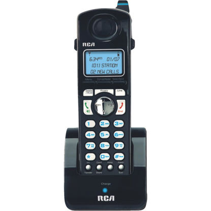 Picture of RCA DECT 6.0 2-Line Black Cordless Phone Expansion Handset