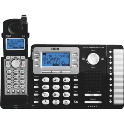 Picture of RCA DECT 6.0 2-Line Black Expandable Cordless Phone System