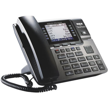 Picture of RCA Unison Corded 4-Line Black Wireless Deskset Expansion Telephone
