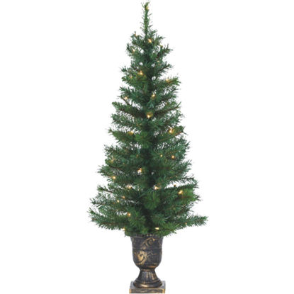 Picture of Sterling 4 Ft. Potted Idaho Pine 50-Bulb Clear Incandescent Prelit Artificial Christmas Tree