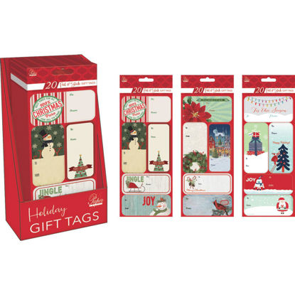Picture of Paper Images Assorted Christmas Gift Tags (20-Pack)