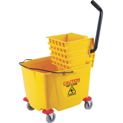 Picture of 38 Qt. Down Press PVC Mop Bucket & Wringer