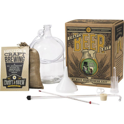 Picture of Craft A Brew Bone Dry Irish Stout Beer Brewing Kit (11-Piece)