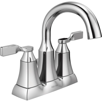 Picture of Delta Sawyer Chrome 2-Handle Lever 4 In. Centerset Bathroom Faucet with Pop-Up