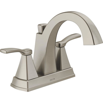 Picture of Delta Flynn Stainless 2-Handle Lever 4 In. Centerset Bathroom Faucet with Pop-Up