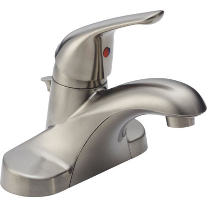 Picture of Delta Foundations Stainless 1-Handle Lever 4 In. Centerset Bathroom Faucet with Pop-Up