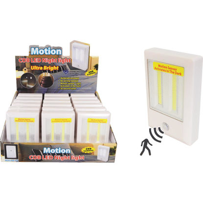 Picture of Diamond Visions White Battery Operated Motion Activated COB LED Night Light