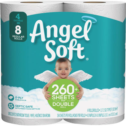 Picture of Angel Soft Toilet Paper (4 Double Rolls)
