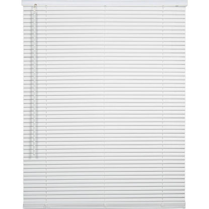 Picture of Home Impressions 28 In. x 64 In. x 1 In. White Vinyl Light Filtering Cordless Mini Blind