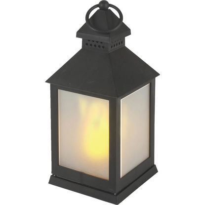 Picture of Everlasting Glow 4.13 In W. x 9.25 In. H. x 4.13 In. L. Black Square Patio Lantern