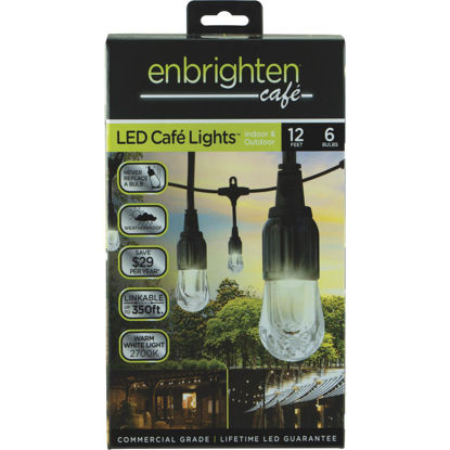 Picture of Enbrighten 12 Ft. 6-Light Warm White Clear Bulb Cafe String Lights