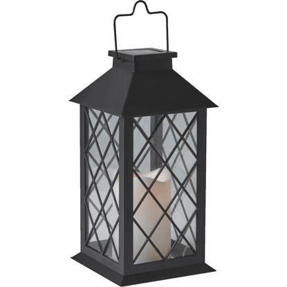 Picture of Gardman Cole and Bright 5.5 In. W. x 11 In. H. x 5.5 In. D. Amber Candle Light Plastic LED Solar Lantern