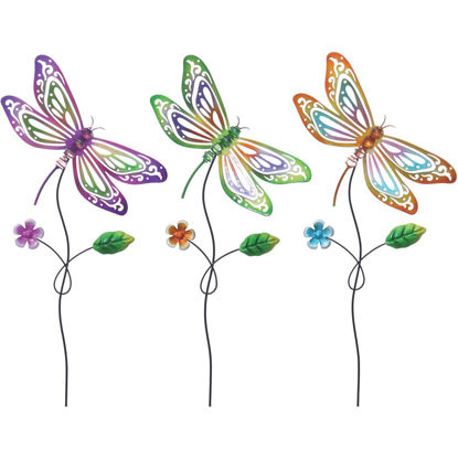 Picture of Alpine 24 In. H. Metal Dragonfly Garden Stake Lawn Ornament