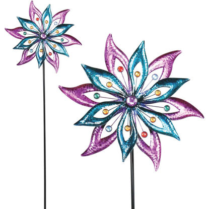 Picture of Alpine 64 In. H. Wind Spinner Garden Stake Lawn Ornament