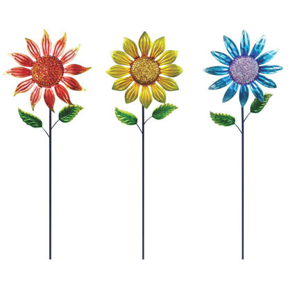 Picture of Alpine 36 In. H. Metal Sunflower Garden Stake Lawn Ornament