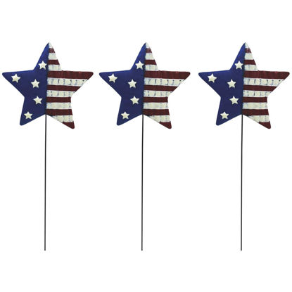 Picture of Alpine 24 In. Metal American Flag Garden Stake Lawn Ornament