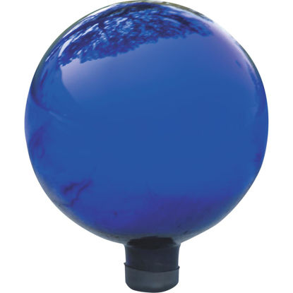 Picture of Alpine 12 In. Electric Blue Glass Gazing Globe Lawn Ornament