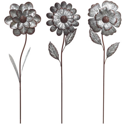 Picture of Alpine 49 In. H. Metal Flower Garden Stake Lawn Ornament