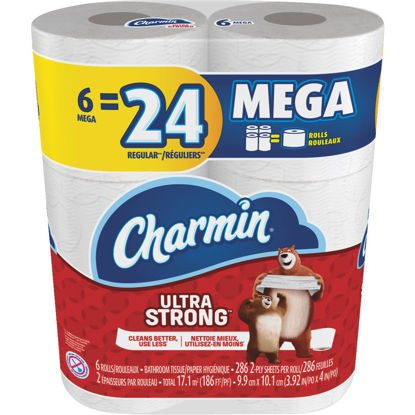 Picture of Charmin Ultra Strong Toilet Paper (6 Mega Rolls)