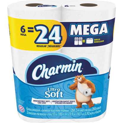 Picture of Charmin Ultra Soft Toilet Paper (6 Mega Rolls)