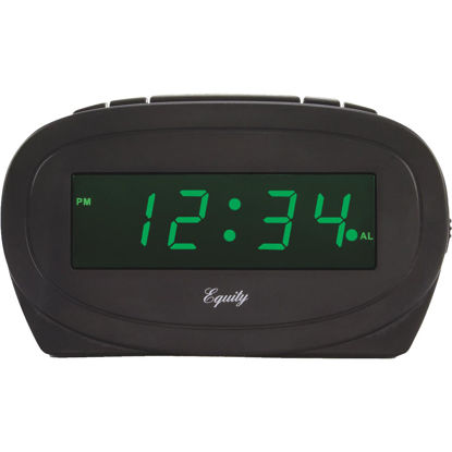 Picture of La Crosse Technology Equity Green LED Electric Alarm Clock