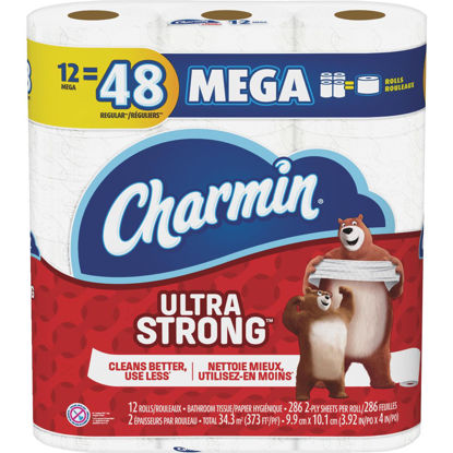 Picture of Charmin Ultra Strong Toilet Paper (12 Mega Rolls)