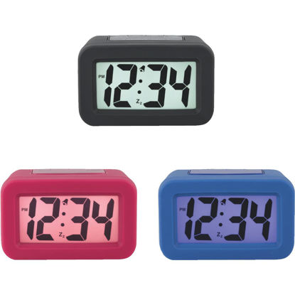 Picture of La Crosse Technology Silicon LCD Battery Operated Alarm Clock