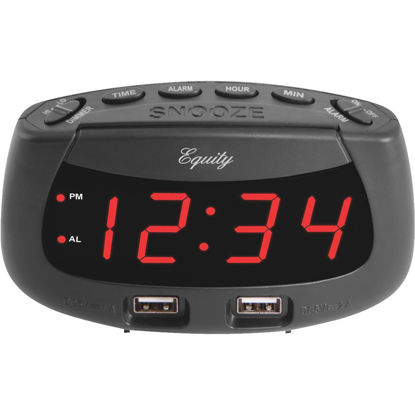 Picture of La Crosse Technology Equity Dual USB Electric Alarm Clock