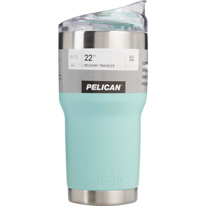 Picture of PELICAN 22 Oz. Seafoam Green Stainless Steel Insulated Tumbler with Slide Closure