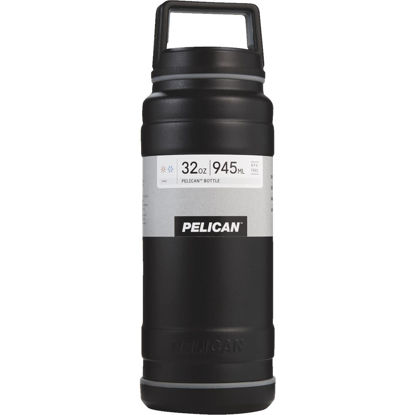 Picture of Pelican 32 Oz. Black Stainless Steel Travel Bottle