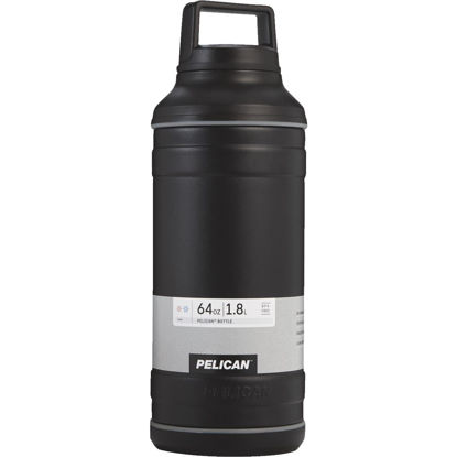 Picture of Pelican 64 Oz. Black Stainless Steel Travel Bottle