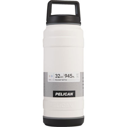 Picture of Pelican 32 Oz. White Stainless Steel Travel Bottle