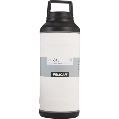 Picture of Pelican 64 Oz. White Stainless Steel Travel Bottle
