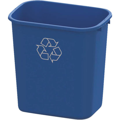 Picture of Impact 28 Qt. Blue Plastic Recycle Wastebasket