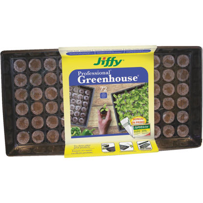 Picture of Jiffy Professional 72-Cell Greenhouse Seed Starter Kit with Superthrive