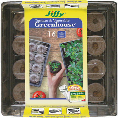 Picture of Jiffy 16-Cell 11 In. W. x 11 In. L. Seed Starter Greenhouse Kit with Superthrive