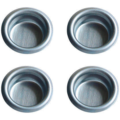 Picture of Johnson Hardware 3/4 In. Dia. Satin Nickel Flush Cup Pocket Door Pull (4-Count)
