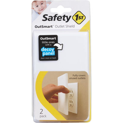 Picture of Safety 1st Outsmart Plug In White Outlet Shield (2-Pack)