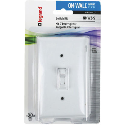Picture of Wiremold On-Wall White PVC Switch Box Kit