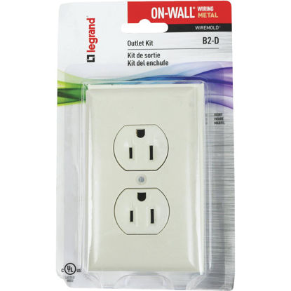 Picture of Wiremold On-Wall Ivory Metal Outlet Box Kit
