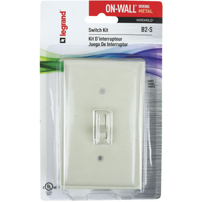 Picture of Wiremold On-Wall Ivory Metal Switch Box Kit