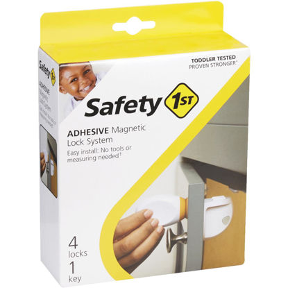 Picture of Safety 1st Plastic Adhesive Magnetic Lock System (4-Lock Set)