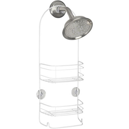 Picture of iDesign Rondo 2-Basket White Shower Caddy