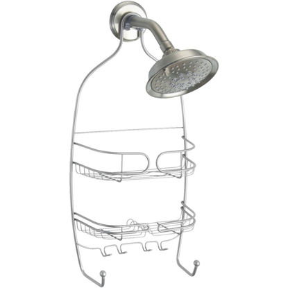 Picture of iDesign Neo Medium Silver Shower Caddy