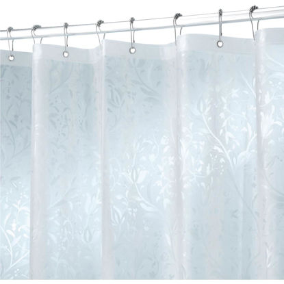 Picture of iDesign 72 In. x 72 In. Frosted Floral EVA Shower Curtain