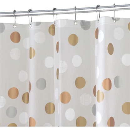 Picture of iDesign 72 In. x 72 In. Gilly Dot PEVA Shower Curtain